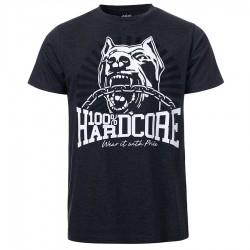100% Hardcore T-shirt *Dog-1*Grey