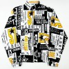 """AUSTRALIAN GABBER JACKETS KWAY SPECIAL EDITION """"GIORNALI"""" BIANCO"""